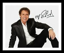 CLIFF RICHARD AUTOGRAPHED SIGNED & FRAMED PP POSTER PHOTO