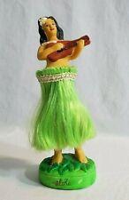 Vintage Aloha Hawaii Nodder Hula Girl Chalkware Dancer Ukulele Accoutrements