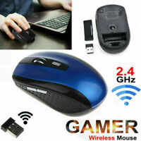 2.4GHz Wireless Cordless Mice Optical Mouse Computer Laptop w/ USB Receiver One~
