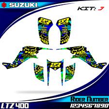suzuki ltz 400 kawasaki kfx 400 decals graphics stickers ltz400 kfx400 2003 2008