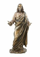 "12"" Jesus Christ Blessing Statue Figurine Bronze Look Religious Gift Church 1779"