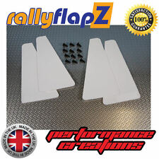 miniflapZ (set di 4) Universale 'Mini' Parafanghi / Paraspruzzi Bianco 3mm PVC