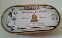 VINTAGE ANTIQUE MADELEINES DE LA CLOCHE D'OR WOOD BOX WITH SEALED COOKIES
