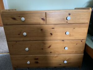 pine chest of draws used