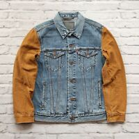 New Sample Levis Denim Canvas Trucker Jean Jacket Size M