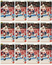 WAYNE GRETZKY 19 CARD LOT 1991-92 UPPER DECK # 13 CANADA CUP FRENCH & US VERSION