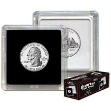 Box of 25 BCW 2X2 COIN SNAP - QUARTER - BLACK - Premium Long-term Storage Snaps