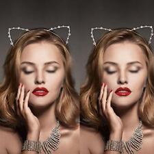 NEW Lady Fashion Women Girls Cat Ears Pearl Rabbit Hairband Headband Cute Lovely