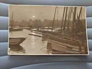 Judges Postcard, No 4103, Sunset Over Harbour, Bridlington