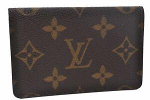 Authentic Louis Vuitton Monogram Pochette Cartes Visite Card Case LV D6328