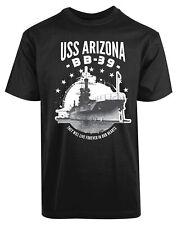 USS Arizona BB39 USA American Ship New Men's Shirt Military Navy Veteran Top Tee