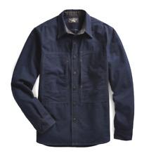MSRP: $395 RRL Ralph Lauren Chambray Shirt Indigo Size M Wool Cotton Jacket