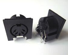 10Pcs PCB Panel Mount MIDI Female DIN5 DIN 5-Pin Jack D501