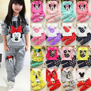 Kids Baby Girls Clothes Minnie Mouse Sweatshirt Tops Pants Outfits Tracksuit Set