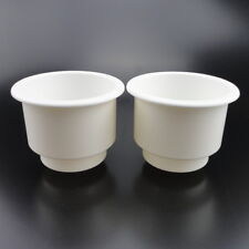 New Arrived 2 PCS White Plastic Cup Drink Holder For Marine Boat RV Durable