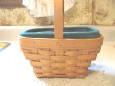 Longaberger Small Comforts Basket Signed by 3 Family Members