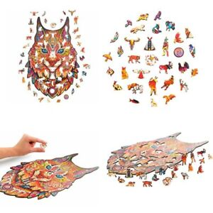 Colourful Animal Wood Puzzle Jigsaw For Adults Kids