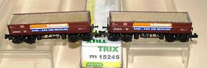 """""""N"""" Minitrix 15245   2-teilig Set  Seitenkippwagen """"Kümmel""""  DB AG  Ep.IV.  OVP."""