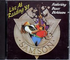 Samson live at Reading BRUCE DICKINSON RARO CD ALBUM 1990 SANCTUARY