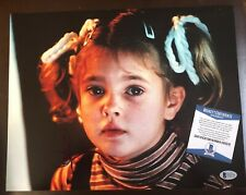 Drew Barrymore Signed E.T. 11x14 Photo Autographed BAS Beckett Authentic COA