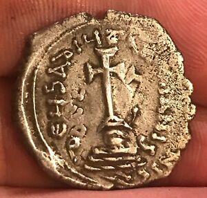 Byzantine Empire, Silver Hexagram  Heraclitus, 610 - 641 AD, Double Struck , VF