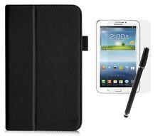 Hülle Samsung Galaxy Tab 3 7.0 Lite SM-T110 Kunstleder Case Tasche schwarz