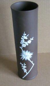 Wedgwood Jasperware Chocolate Brown Large Tubular Vase