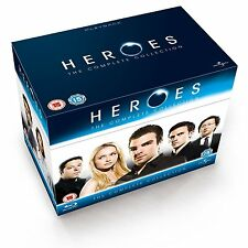 HEROES Complete Season Series 1 2 3 4 1-4 Collection Box Region Free NEW BLU-RAY