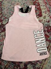 Girls Justice DANCE 2fer tank top size 10 NWT