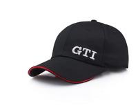 GTI Volkswagen Hat Embroidered Logo Motorsport Baseball Cotton Cap Model Black