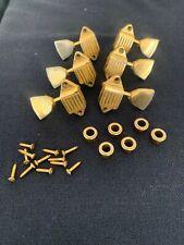 1969 1970 Gibson Les Paul Custom Gold waffle back tuners w/ bushings & screws Sg