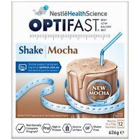 Optifast VLCD Mocha Weight Loss Shake - 12 x 53g Sachets High Protein Fibre