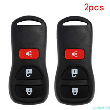 For 2002-2010 Nissan Frontier 2PCs/Set Remote Keyless Entry Key Fob Replacement