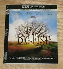 BIG FISH, BEVERLY HILLS COP, BLACK PANTHER, BLACK KLANSMAN 4K Blu ray slipcover