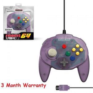 Retro-Bit Tribute 64 Controller for Nintendo N64 Original Atomic Purple