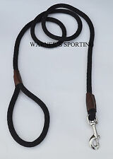 "WARNER BRAIDED NYLON ROPE SNAP LEAD DOG LEASH >BLACK< 1/2"" X 6 ft."