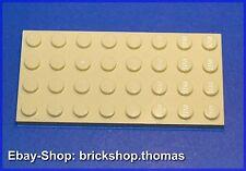 LEGO plaque plaque de base (4 x 8 Beige) - 3035-plate tan-Neuf/New