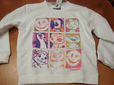 "GIRLS JOE BOXER  ""HAPPY HAPPY"" FLEECE LINED SWEATSHIRT  SIZE 4/5   NWT"