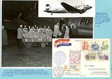NEDERLAND 1951-5-15  EINDHOVEN AMSTERDAM + FDC    + DOC   F/V