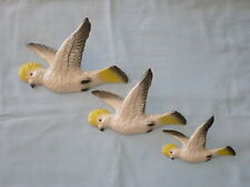FLYING WALL DUCKS , SULPHUR CRESTED COCKATOOS, MINT.