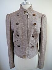 GIORGIO ARMANI $2.5k brown shimmer fitted jacket blazer Italian 42 WORN ONCE