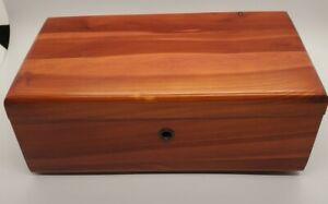 "Vintage 9"" Lane Miniature Cedar Chest Jewelry Box Indiana NO KEY"