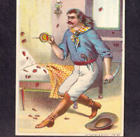 Cowboy Outlaw 1800's Bed-Bug Poison Sholes Insect Exterminator Trade Card poem