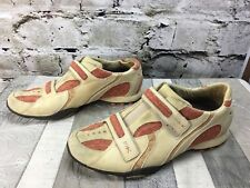 Michelle K Women Size 10M Sport Leather Tan Orange Tennis Athletic Shoes