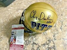 Chris Doleman signed Pitt Panthers NCAA HOF 2012 Mini Helmet JSA