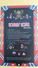Donkey Kong Cocktail instructions sticker. 3x5. (Buy 3 stickers, Get One Free!)