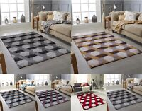 New Modern Silver Red Brown Purple Small Large High Quality Thick Pile Rug Sale