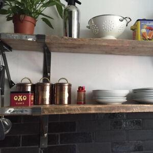 Scaffold Board Shelf Supplied With Hand Made Brackets Reclaimed Wood Bespoke