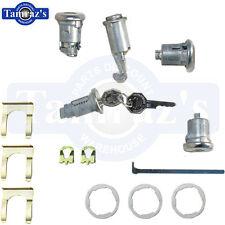 67 Camaro 66-7 Nova Ignition Door Glove & Trunk Lock Kit Original Key Style 288