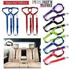 Lot Pet Dog Cat Safety Seat Belt Strap Car Headrest Restraint Vehicle Adjustable